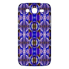 Blue White Abstract Flower Pattern Samsung Galaxy Mega 5 8 I9152 Hardshell Case  by Costasonlineshop