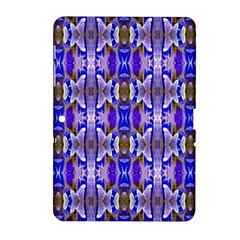 Blue White Abstract Flower Pattern Samsung Galaxy Tab 2 (10 1 ) P5100 Hardshell Case  by Costasonlineshop