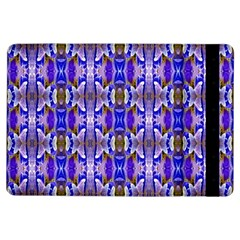 Blue White Abstract Flower Pattern Ipad Air Flip by Costasonlineshop