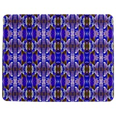 Blue White Abstract Flower Pattern Jigsaw Puzzle Photo Stand (rectangular) by Costasonlineshop