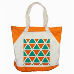Orange Green Triangles Pattern 			accent Tote Bag by LalyLauraFLM