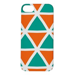Orange Green Triangles Pattern 			apple Iphone 5s Hardshell Case by LalyLauraFLM