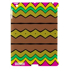 Rhombus And Waves 			apple Ipad 3/4 Hardshell Case (compatible With Smart Cover) by LalyLauraFLM