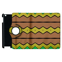 Rhombus And Waves 			apple Ipad 2 Flip 360 Case by LalyLauraFLM