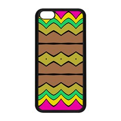 Rhombus And Waves 			apple Iphone 5c Seamless Case (black) by LalyLauraFLM