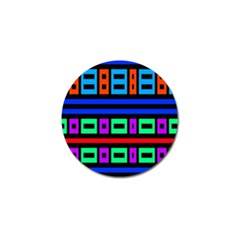 Rectangles And Stripes 			golf Ball Marker by LalyLauraFLM