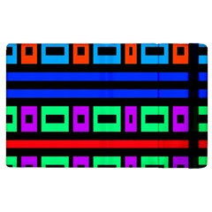 Rectangles And Stripes 			apple Ipad 3/4 Flip Case by LalyLauraFLM