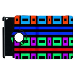 Rectangles And Stripes 			apple Ipad 2 Flip 360 Case by LalyLauraFLM