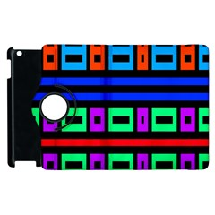 Rectangles And Stripes 			apple Ipad 3/4 Flip 360 Case by LalyLauraFLM