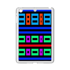 Rectangles And Stripes 			apple Ipad Mini 2 Case (white) by LalyLauraFLM