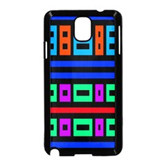 Rectangles And Stripes 			samsung Galaxy Note 3 Neo Hardshell Case (black) by LalyLauraFLM