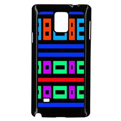 Rectangles And Stripes 			samsung Galaxy Note 4 Case (black) by LalyLauraFLM