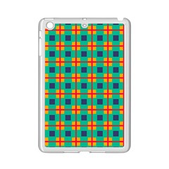 Squares In Retro Colors Pattern 			apple Ipad Mini 2 Case (white) by LalyLauraFLM