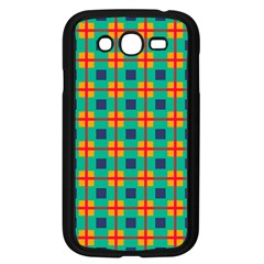 Squares In Retro Colors Pattern 			samsung Galaxy Grand Duos I9082 Case (black) by LalyLauraFLM