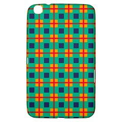 Squares In Retro Colors Pattern 			samsung Galaxy Tab 3 (8 ) T3100 Hardshell Case by LalyLauraFLM