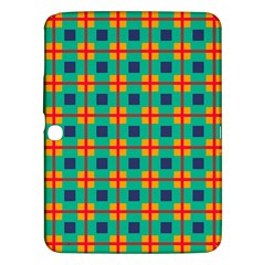 Squares In Retro Colors Pattern 			samsung Galaxy Tab 3 (10 1 ) P5200 Hardshell Case by LalyLauraFLM