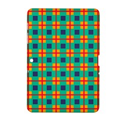 Squares In Retro Colors Pattern 			samsung Galaxy Tab 2 (10 1 ) P5100 Hardshell Case by LalyLauraFLM