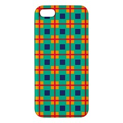 Squares In Retro Colors Pattern 			iphone 5s Premium Hardshell Case by LalyLauraFLM