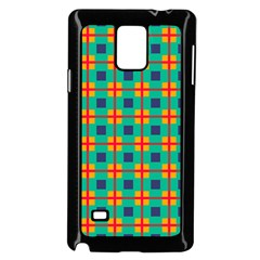 Squares In Retro Colors Pattern 			samsung Galaxy Note 4 Case (black) by LalyLauraFLM