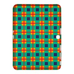 Squares In Retro Colors Pattern 			samsung Galaxy Tab 4 (10 1 ) Hardshell Case by LalyLauraFLM
