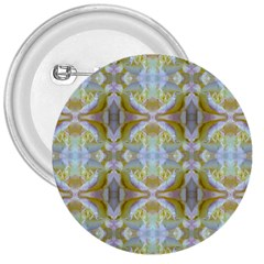 Beautiful White Yellow Rose Pattern 3  Buttons by Costasonlineshop