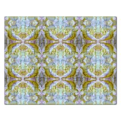 Beautiful White Yellow Rose Pattern Rectangular Jigsaw Puzzl by Costasonlineshop