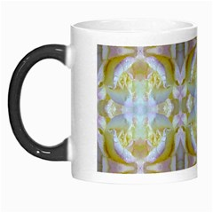 Beautiful White Yellow Rose Pattern Morph Mugs by Costasonlineshop