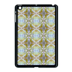 Beautiful White Yellow Rose Pattern Apple Ipad Mini Case (black) by Costasonlineshop
