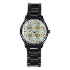 Beautiful White Yellow Rose Pattern Stainless Steel Round Watches by Costasonlineshop