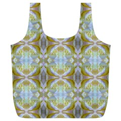 Beautiful White Yellow Rose Pattern Full Print Recycle Bags (l)  by Costasonlineshop