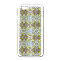 Beautiful White Yellow Rose Pattern Apple Iphone 6/6s White Enamel Case by Costasonlineshop