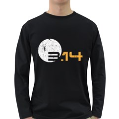 Simple 3 14 Pi Grunge Long Sleeve Dark T Shirts