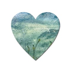 Nature Photo Collage Heart Magnet by dflcprints
