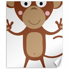 Female Monkey With Flower Canvas 8  X 10  by ilovecotton