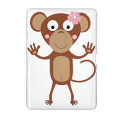 Female Monkey With Flower Samsung Galaxy Tab 2 (10 1 ) P5100 Hardshell Case  by ilovecotton