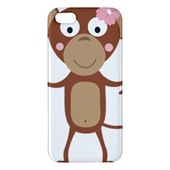 Female Monkey With Flower Iphone 5s Premium Hardshell Case by ilovecotton