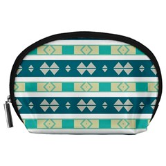 Rhombus And Stripes Accessory Pouch by LalyLauraFLM