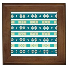 Rhombus And Stripes 			framed Tile by LalyLauraFLM