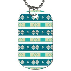 Rhombus And Stripes 			dog Tag (one Side) by LalyLauraFLM