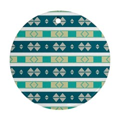 Rhombus And Stripes 			ornament (round) by LalyLauraFLM