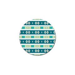 Rhombus And Stripes 			golf Ball Marker (4 Pack) by LalyLauraFLM