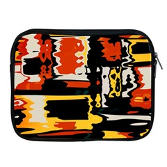Distorted Shapes In Retro Colors 			apple Ipad 2/3/4 Zipper Case by LalyLauraFLM