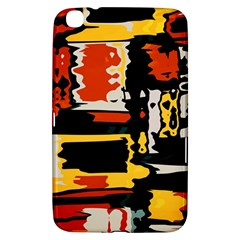 Distorted Shapes In Retro Colors 			samsung Galaxy Tab 3 (8 ) T3100 Hardshell Case by LalyLauraFLM