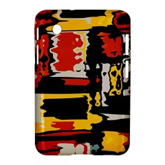 Distorted Shapes In Retro Colors 			samsung Galaxy Tab 2 (7 ) P3100 Hardshell Case by LalyLauraFLM