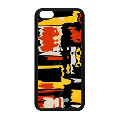 Distorted Shapes In Retro Colors 			apple Iphone 5c Seamless Case (black)