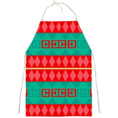 Rhombus Stripes And Other Shapes 			full Print Apron by LalyLauraFLM
