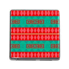 Rhombus Stripes And Other Shapes 			memory Card Reader (square) by LalyLauraFLM