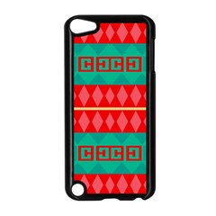Rhombus Stripes And Other Shapes 			apple Ipod Touch 5 Case (black) by LalyLauraFLM