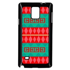 Rhombus Stripes And Other Shapes 			samsung Galaxy Note 4 Case (black) by LalyLauraFLM