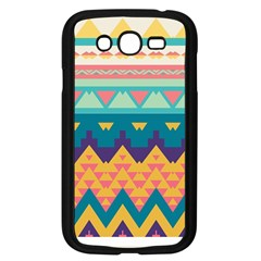 Pastel Tribal Design 			samsung Galaxy Grand Duos I9082 Case (black) by LalyLauraFLM